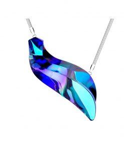 Delphinus halskæde i kirurgisk stål med vedhæng i tjekkisk krystal
