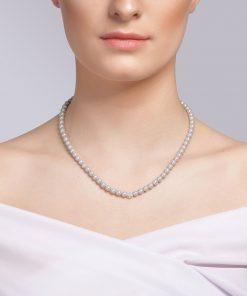 Velvet pearl halskæde (grå) model