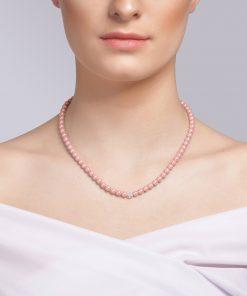Velvet pearl halskæde model