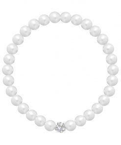 Velvet pearl armbånd (hvid)