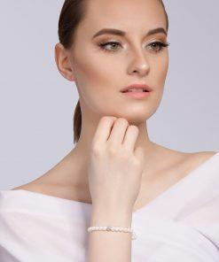 Velvet pearl armbånd (hvid) model