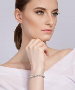 Velvet pearl armbånd (grå) model