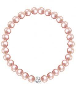Velvet pearl armbånd (rosa)