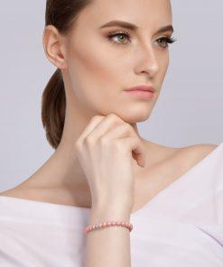 Velvet pearl armbånd (rosa) model