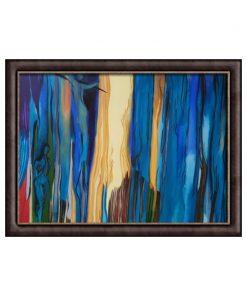"""Fargerigt akrylmaleri """"Traumer"""" i billedramme af Slagelse kunstner Tom Frandsen størrelse 120 x 100 cm"""